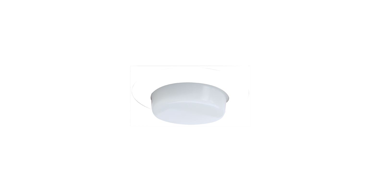 "Elco EL516 5"" Shower Trim with Drop Opal Lens White Recessed Lights Sale $19.90 ITEM: bci1659849 ID#:EL516W :"