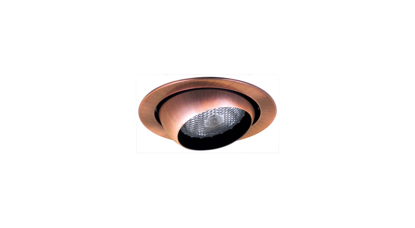 "Elco EL518 5"" Eyeball Trim for 75W Bulbs Copper Recessed Lights"