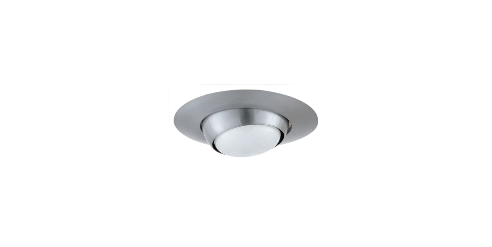 "Elco EL518 5"" Eyeball Trim for 75W Bulbs Nickel Recessed Lights"