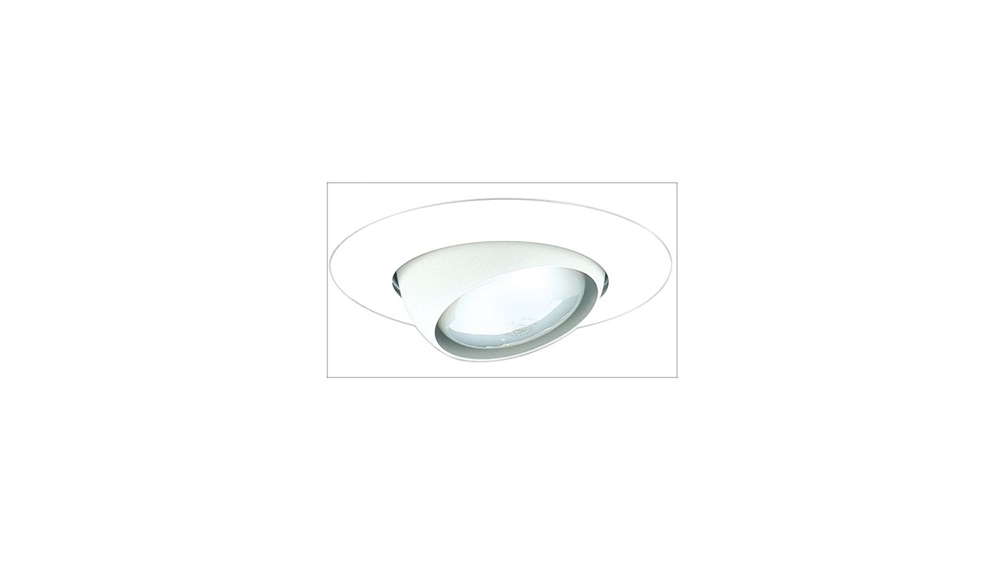 "Elco EL518 5"" Eyeball Trim for 75W Bulbs White Recessed Lights"