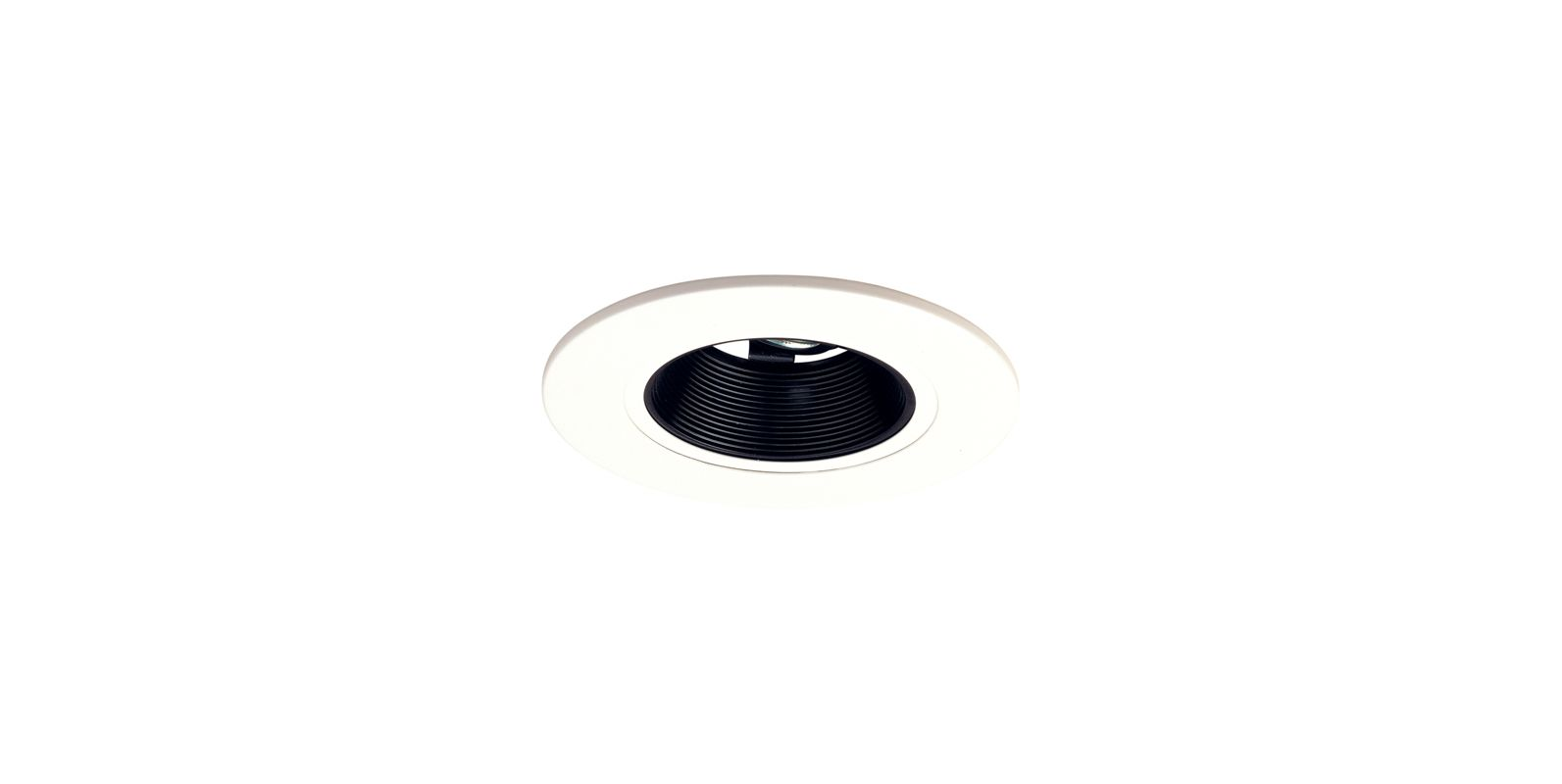 "Elco EL5193 5"" Low-Voltage Retrofit Trim with Adjustable Baffle Black"