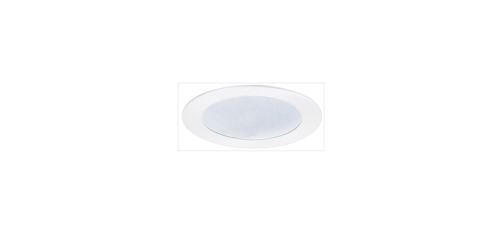 """Elco EL522SH 5"""" White Lexan Shower Trim with Frosted Lens White"""