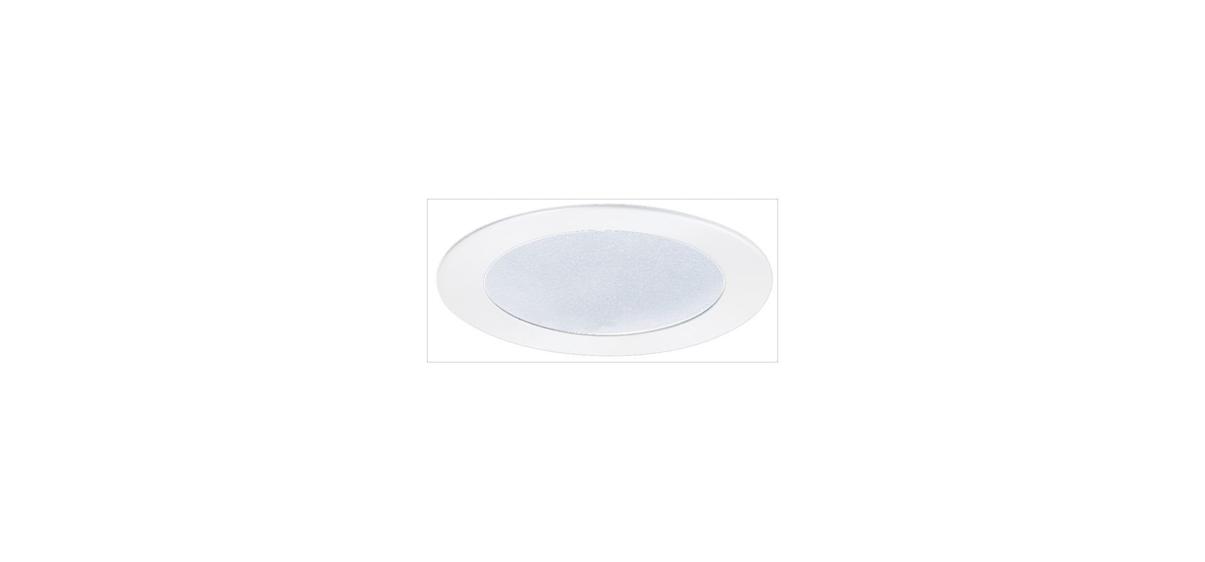 "Elco EL522 5"" Shower Trim with Frosted Lens White Recessed Lights"