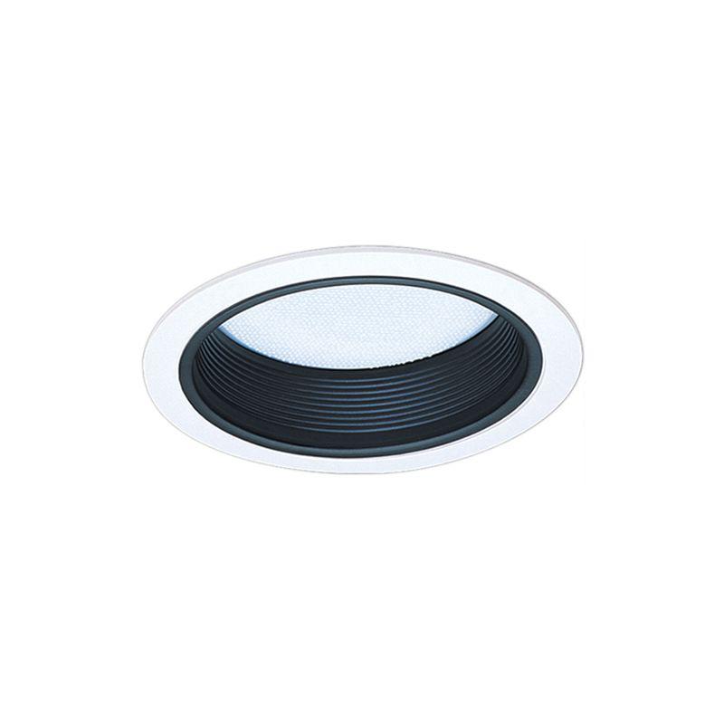 "Elco EL542 5"" Baffle and Regressed Albalite Lens Black / White"