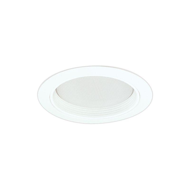 "Elco EL542 5"" Baffle and Regressed Albalite Lens White Recessed Lights"