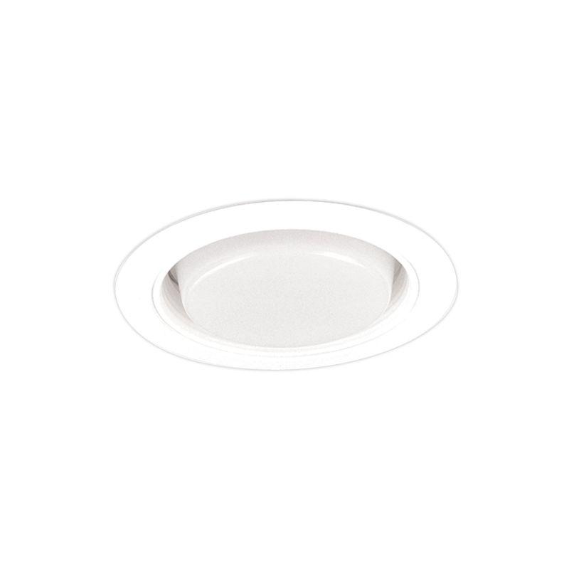 "Elco EL546 5"" Baffle and Regressed Drop Opal Lens White Recessed"