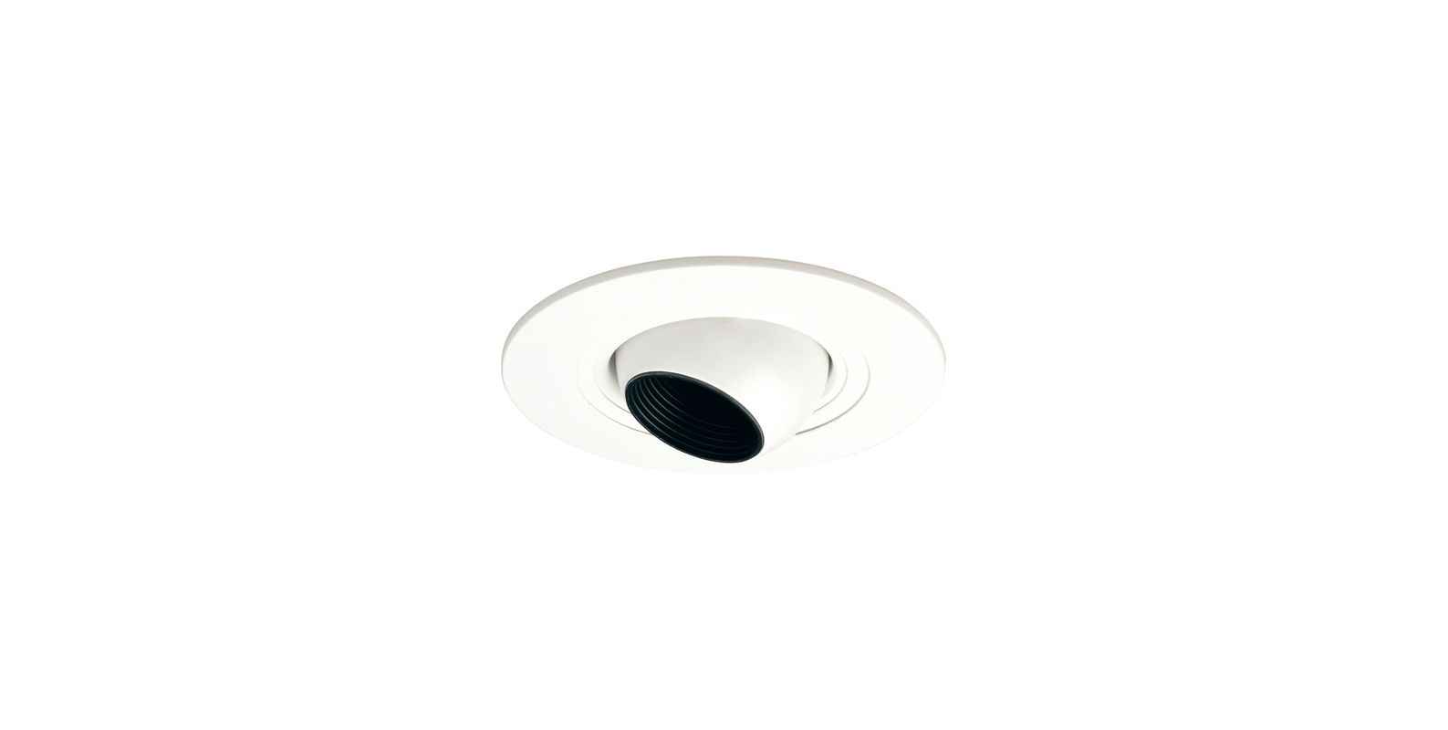 "Elco EL5498W 5"" White Low-Voltage Adjustable Eyeball Trim - 6.25"""