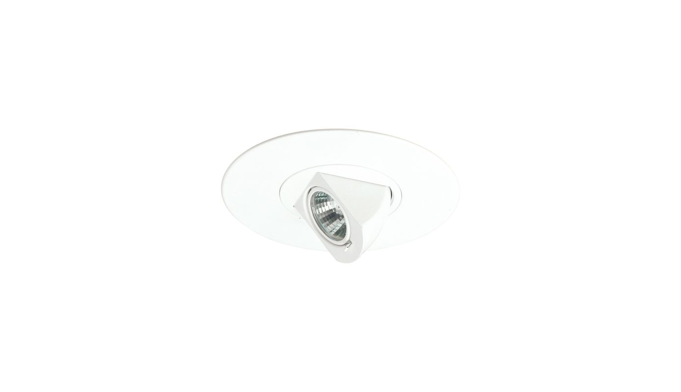 "Elco EL5597W 5"" White Low-Voltage Adjustable Pull-Down White Recessed"
