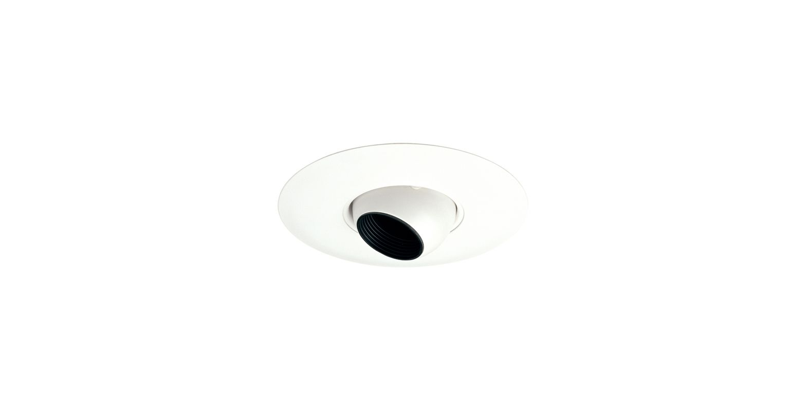 "Elco EL5598W 5"" White Low-Voltage Adjustable Eyeball Trim - 7.25"""