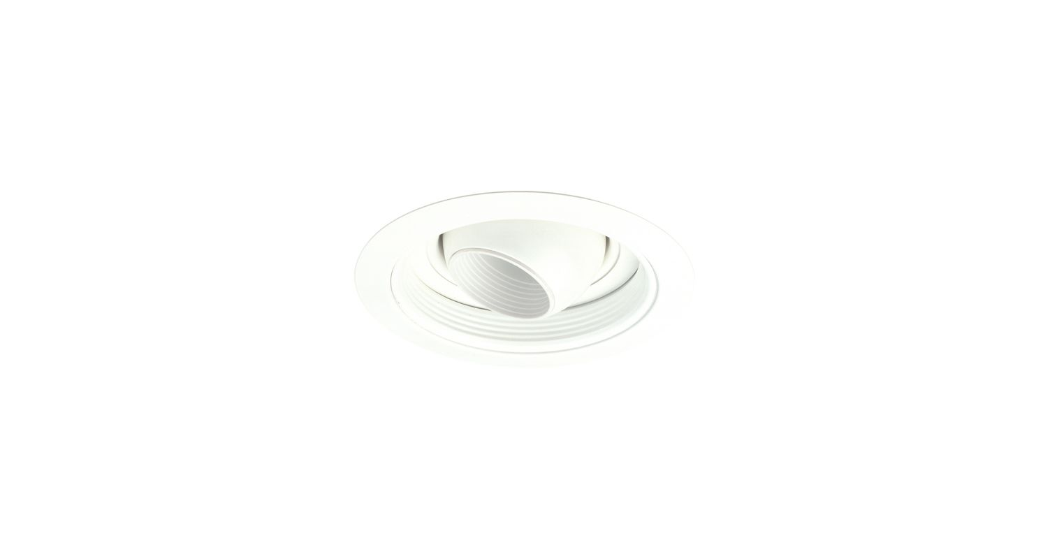 "Elco EL5698 5"" Low-Voltage Adjustable Eyeball with Baffle White"