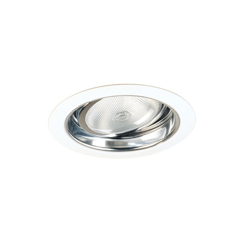 "Elco EL577 5"" Adjustable Regressed Gimbal Ring with Reflector Clear /"
