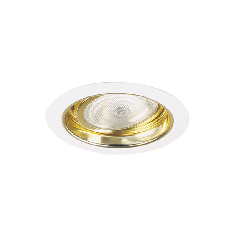 "Elco EL577 5"" Adjustable Regressed Gimbal Ring with Reflector Gold /"