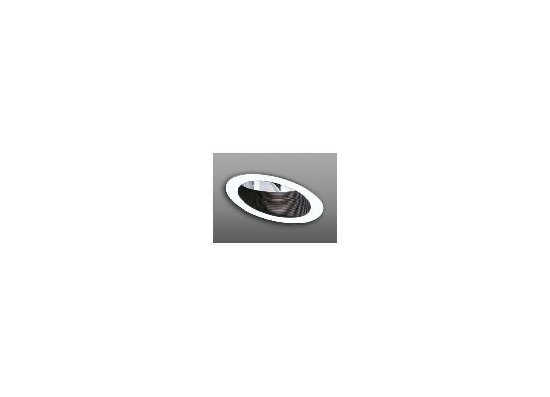 """Elco EL601 6"""" Adjustable Sloped Baffle with Reflector Trim Black"""
