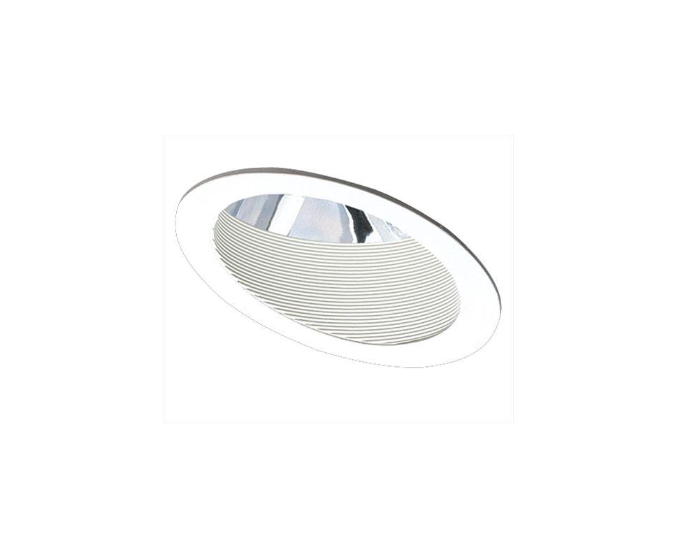"Elco EL601 6"" Adjustable Sloped Baffle with Reflector Trim White"