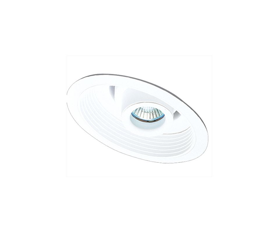 "Elco EL610 6"" Sloped Adjustable Spot with Baffle White Recessed Lights"