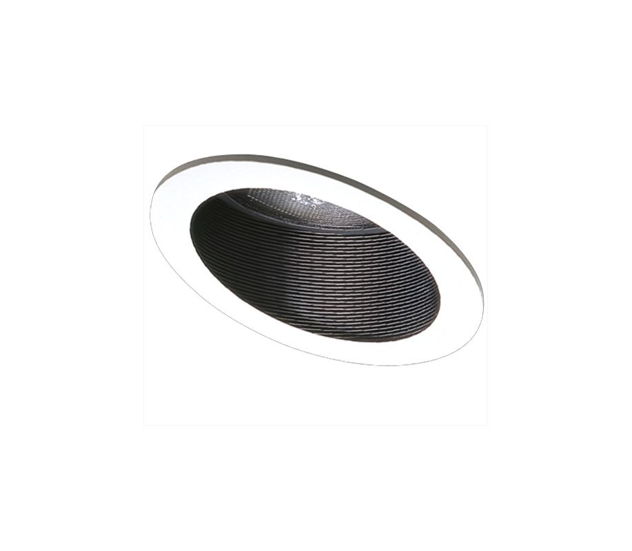 "Elco EL624 6"" Sloped Phenolic Baffle with Gimbal Ring for PAR 30 Bulbs"
