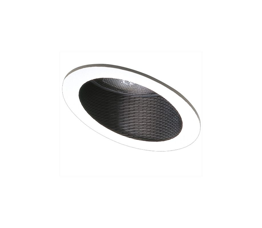 "Elco EL626 6"" Sloped Phenolic Baffle with Gimbal Ring for PAR 38 Bulbs"