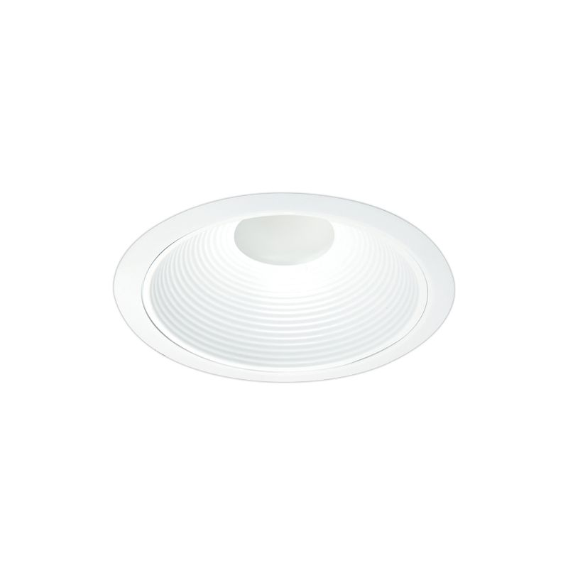 "Elco EL7131W 6"" LED White Deep Baffle Trim with Clear Lens White"