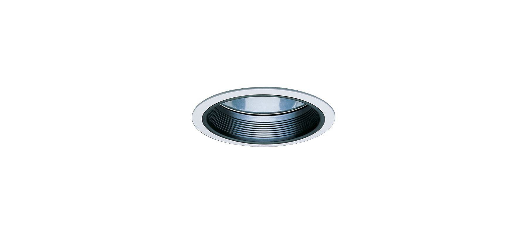 "Elco EL731 7"" CFL Clear Reflector with Baffle Black / White Recessed"