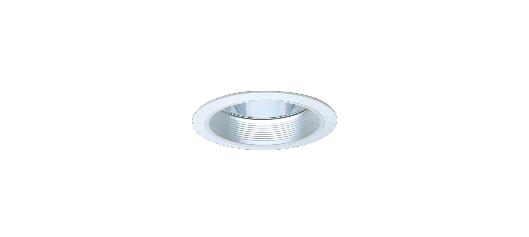 "Elco EL731 7"" CFL Clear Reflector with Baffle White Recessed Lights"