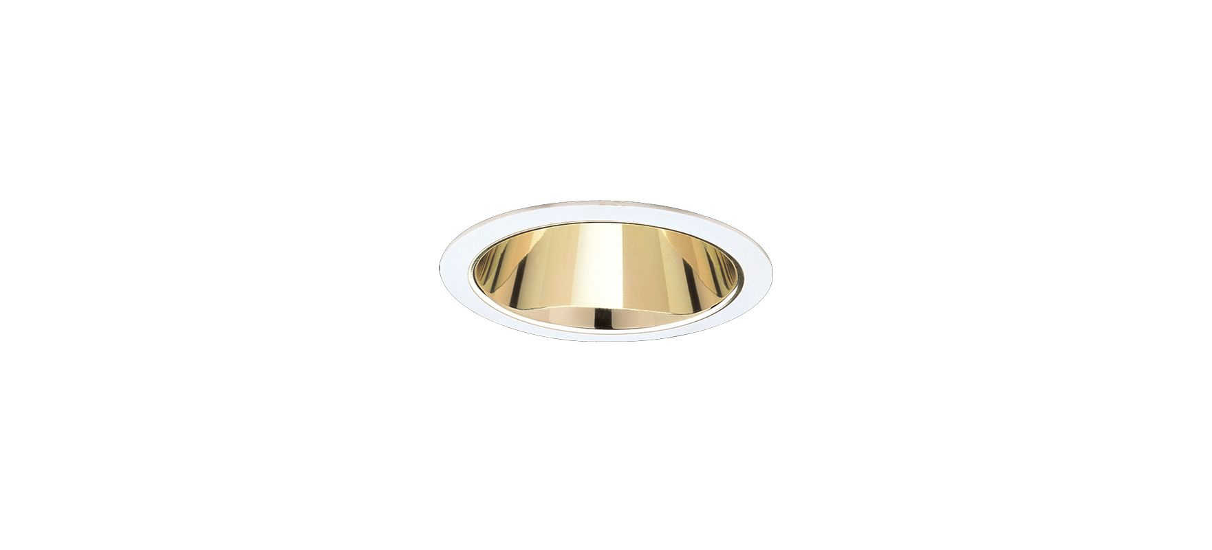 "Elco EL741 7"" CFL Reflector Gold / White Recessed Lights Reflector"