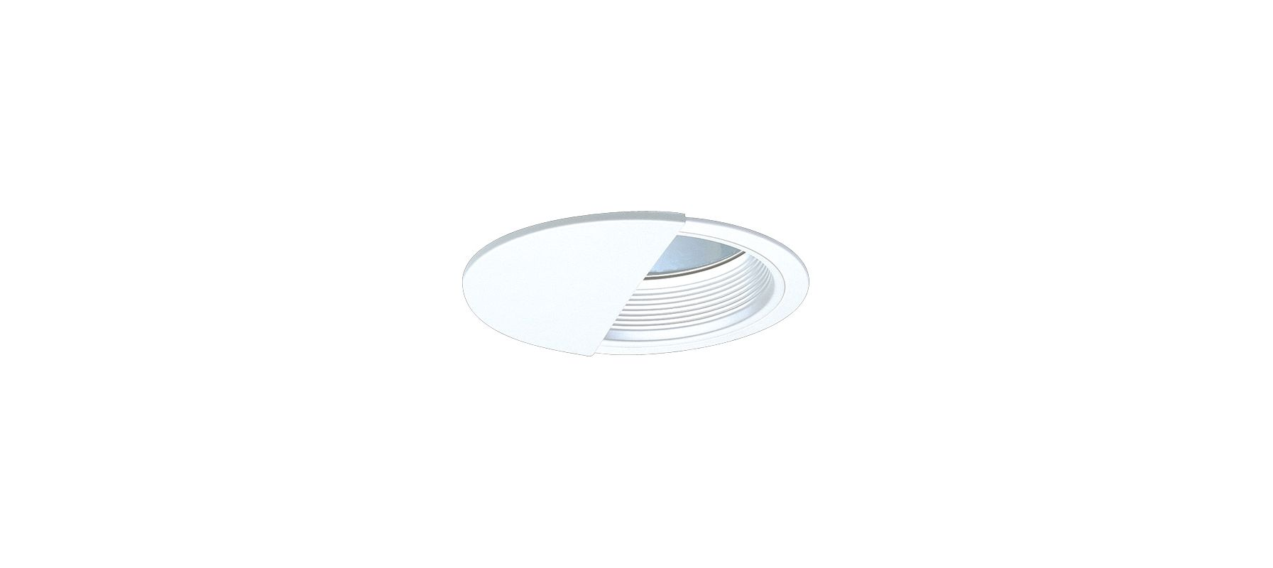 """Elco EL755 7"""" CFL Clear Reflector Wall Wash with Baffle White Recessed"""