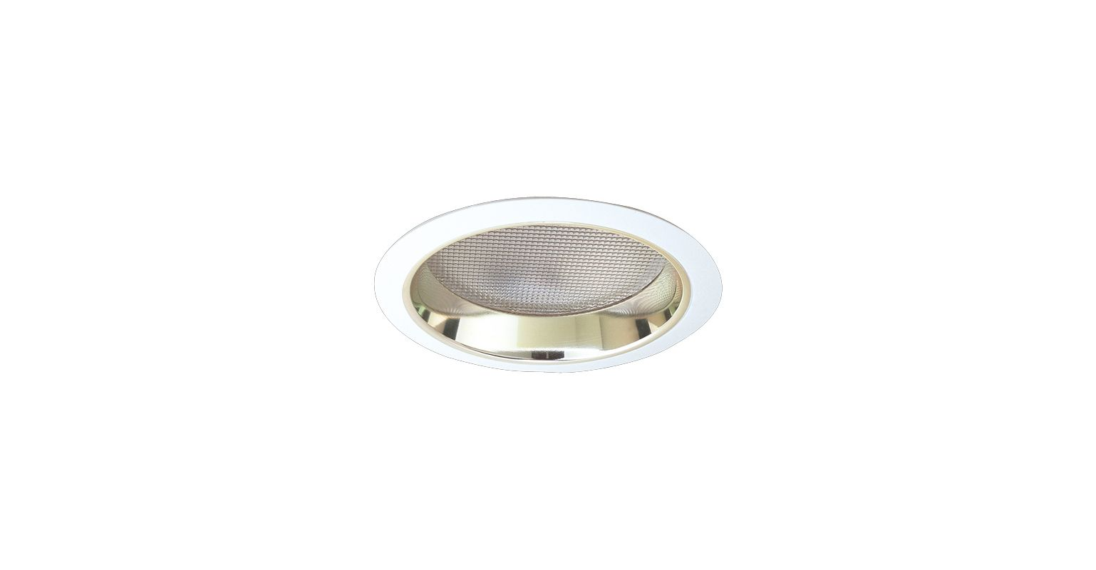 "Elco EL782 7"" CFL Reflector with Regressed Prismatic Lens Gold / White"