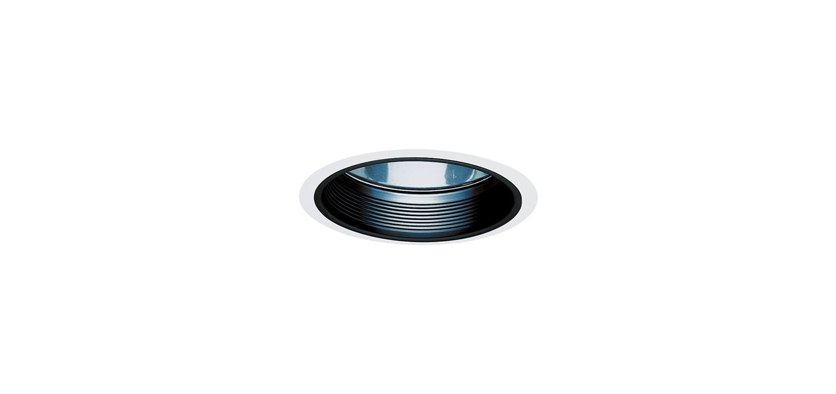 "Elco EL783 6"" HID Clear Reflector with Baffle and Metal Ring Black /"