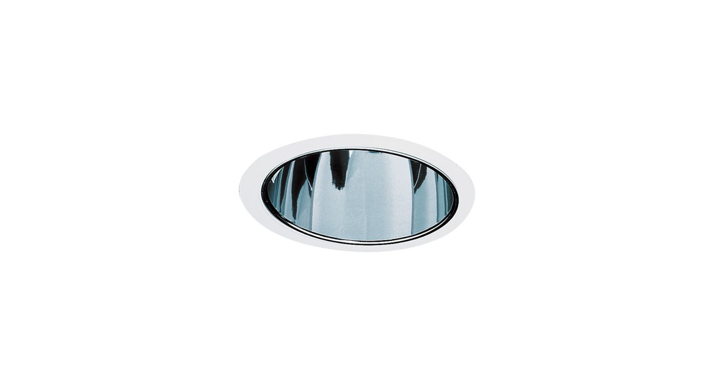 "Elco EL799 6"" HID Clear Reflector with Metal Ring Clear / White"