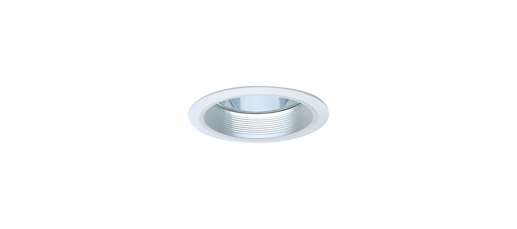 "Elco EL830 8"" CFL Clear Reflector with Baffle for Horizontal Housings"