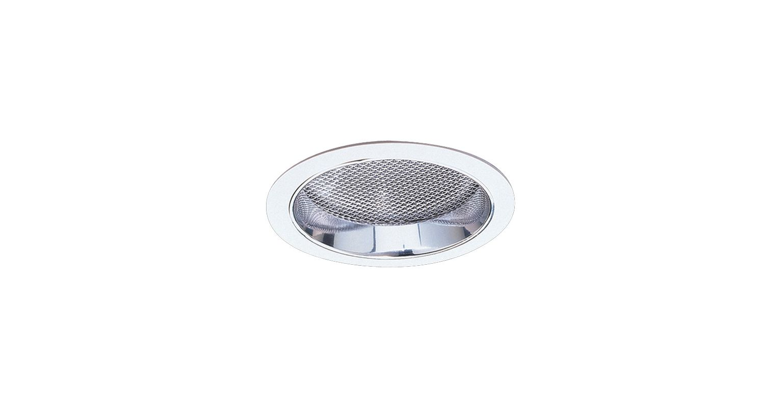 "Elco EL832 8"" CFL Reflector with Regressed Prismatic Lens Clear /"