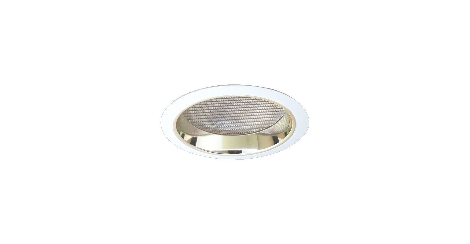 """Elco EL832 8"""" CFL Reflector with Regressed Prismatic Lens Gold / White"""