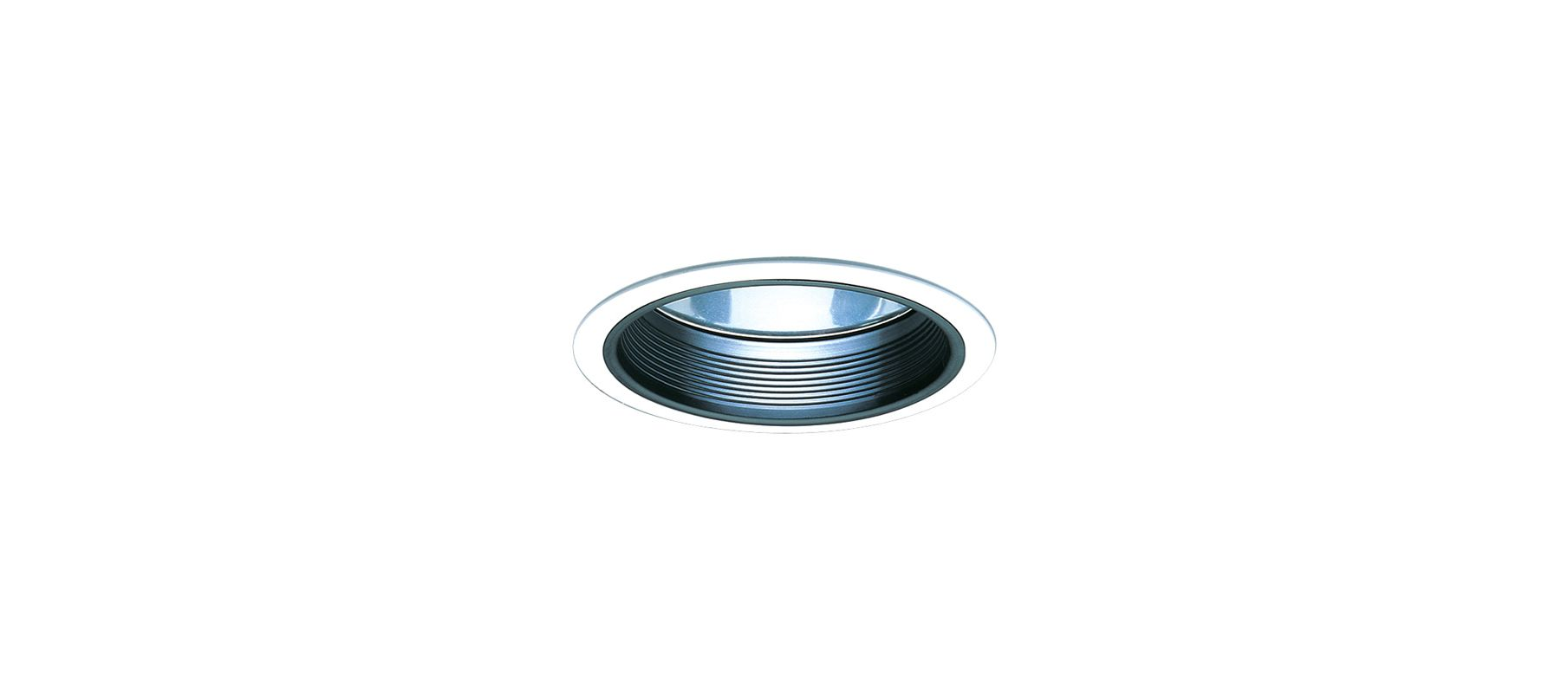 """Elco EL833 8"""" CFL Clear Reflector with Baffle Black / Clear Recessed"""