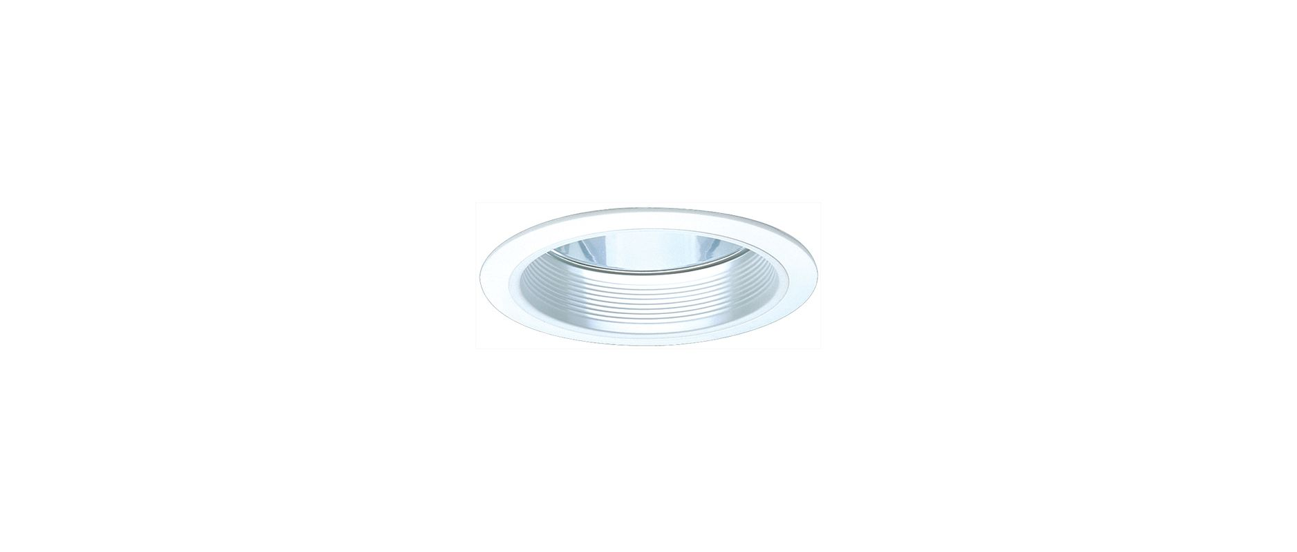 "Elco EL833 8"" CFL Clear Reflector with Baffle White Recessed Lights"