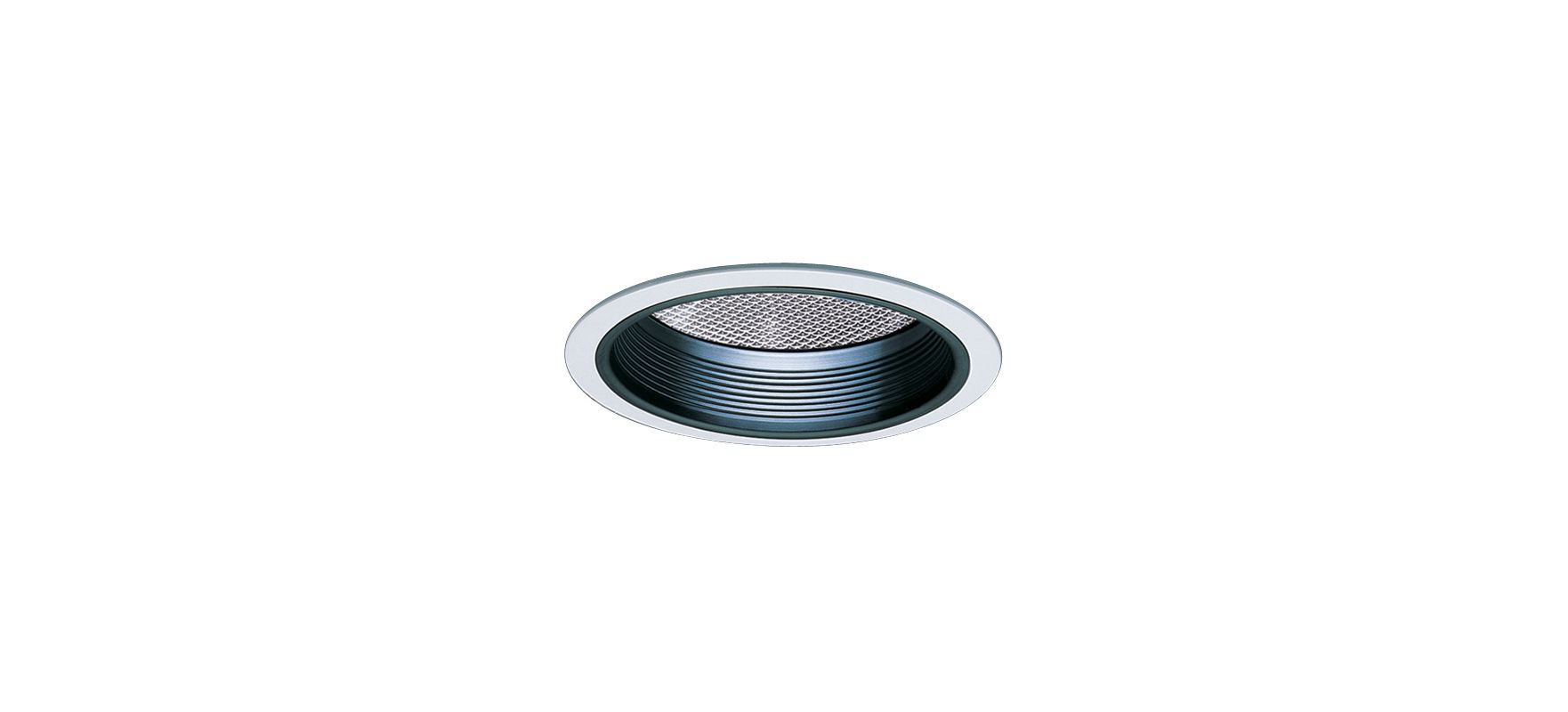 "Elco EL843 8"" CFL Reflector with Regressed Prismatic Lens and Baffle"