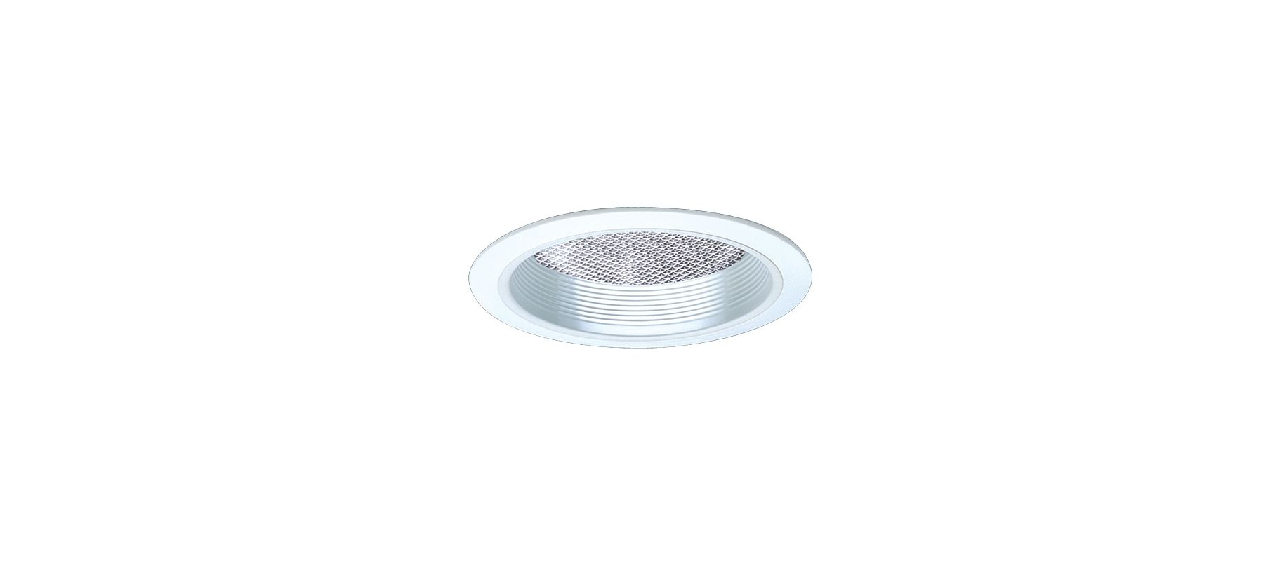 "Elco EL843 8"" CFL Reflector with Regressed Prismatic Lens and Baffle"