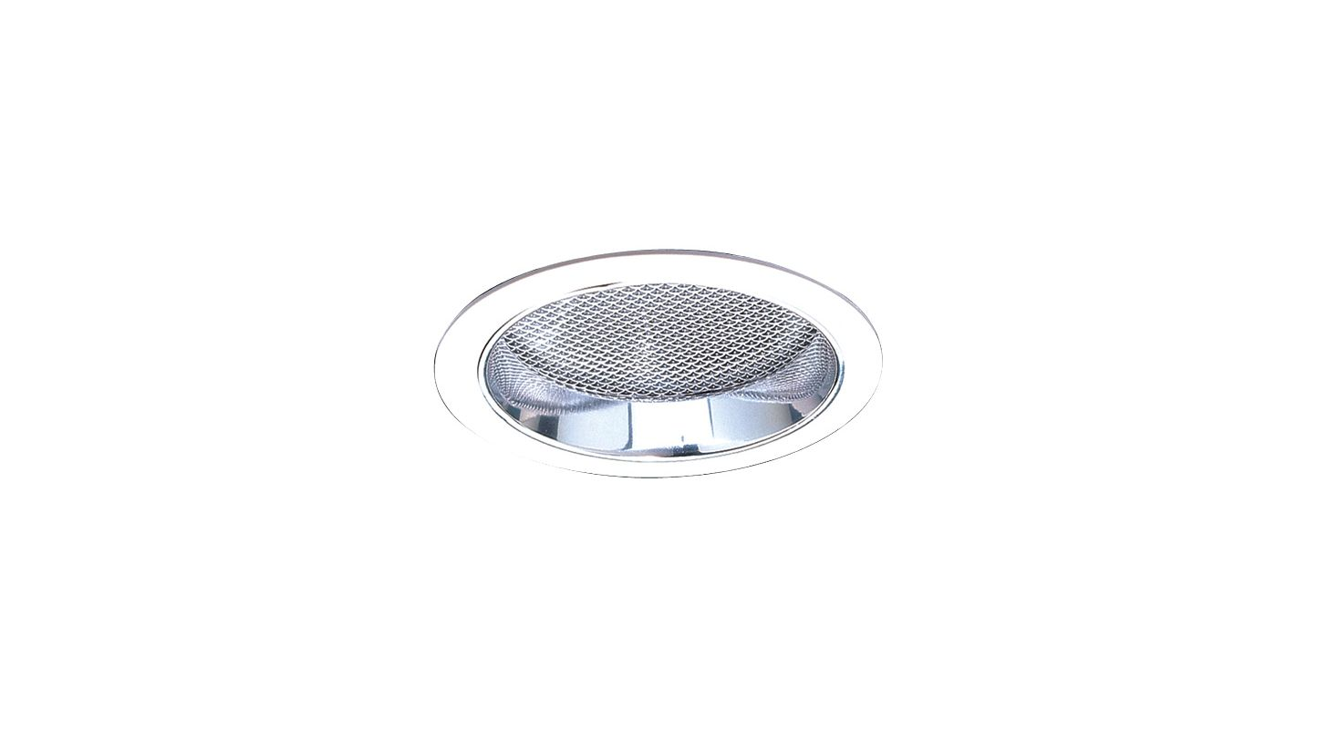 "Elco EL882 8"" CFL Reflector with Regressed Prismatic Lens Clear /"