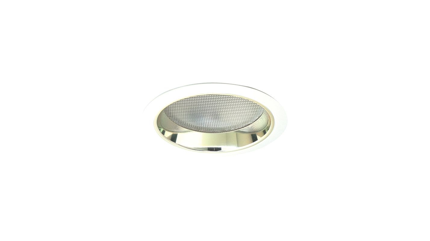 "Elco EL882 8"" CFL Reflector with Regressed Prismatic Lens Gold / White"