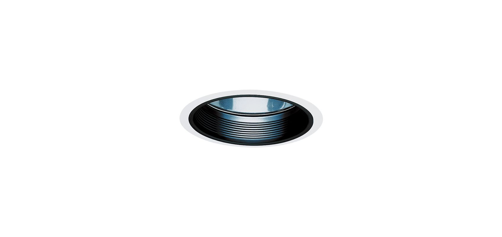 "Elco EL883 8"" HID Clear Reflector with Baffle and Metal Ring Black /"