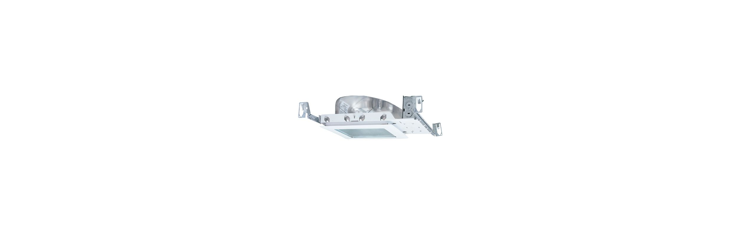 "Elco EL8SQ-213 8"" 13W Two Light CFL Square Downlight with 120V"