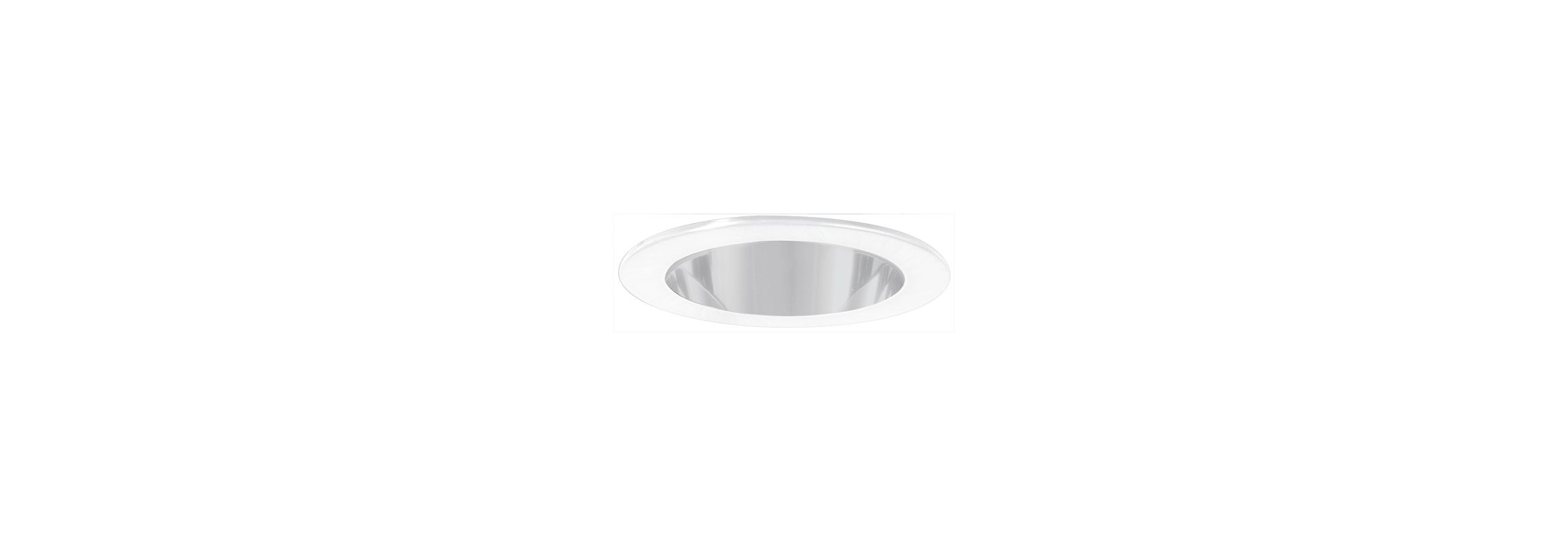 "Elco EL9111SH 4"" White Lexan Shower Trim with Clear Lens and Reflector"