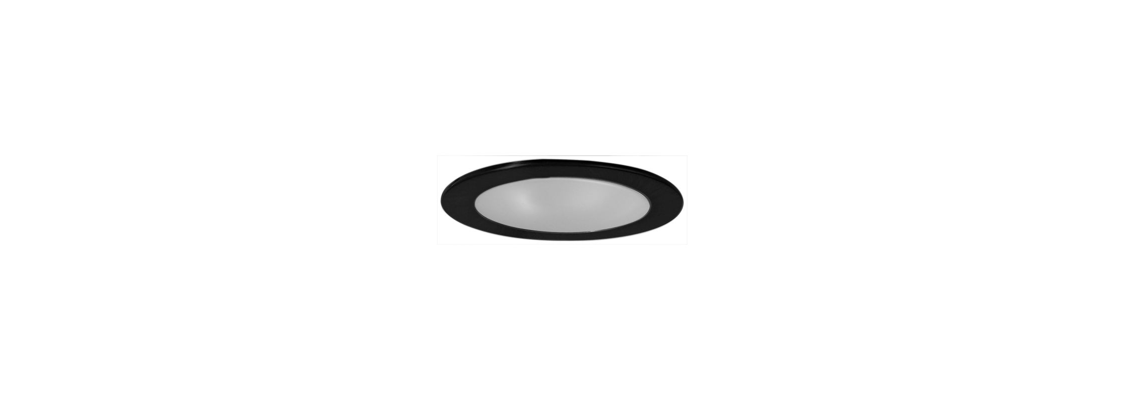 "Elco EL9112 4"" CFL Shower Trim with Frosted Lens and Reflector Black"