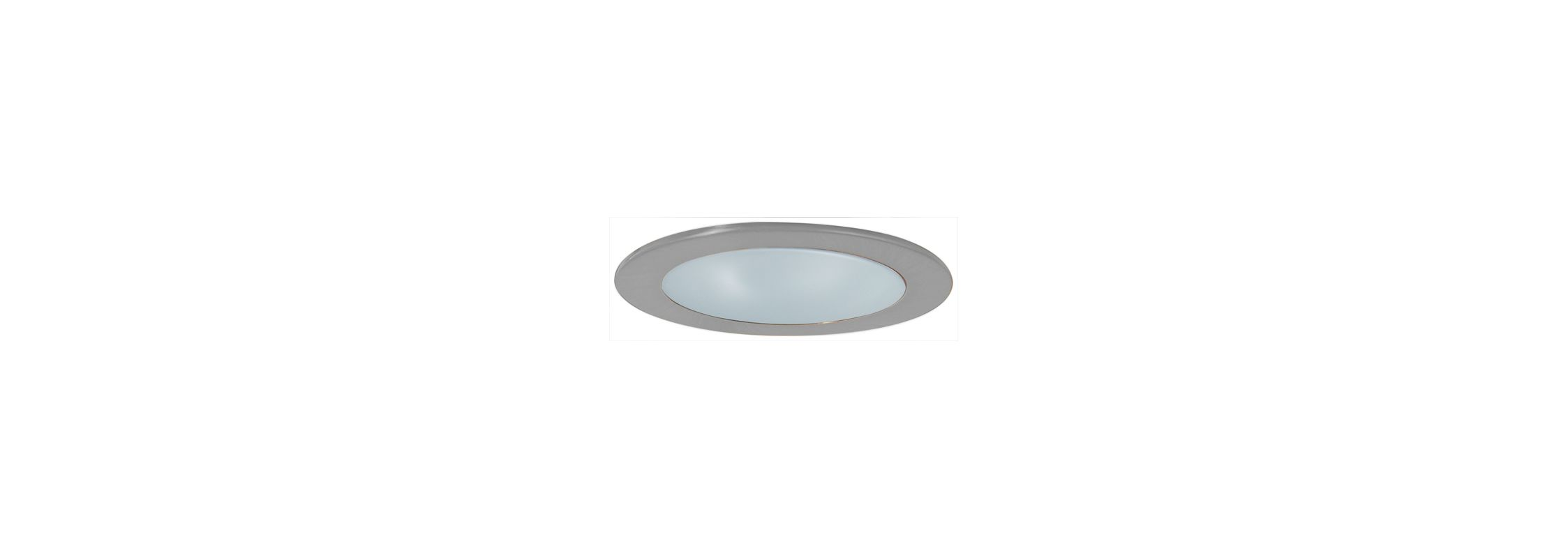 "Elco EL9112 4"" CFL Shower Trim with Frosted Lens and Reflector Clear"