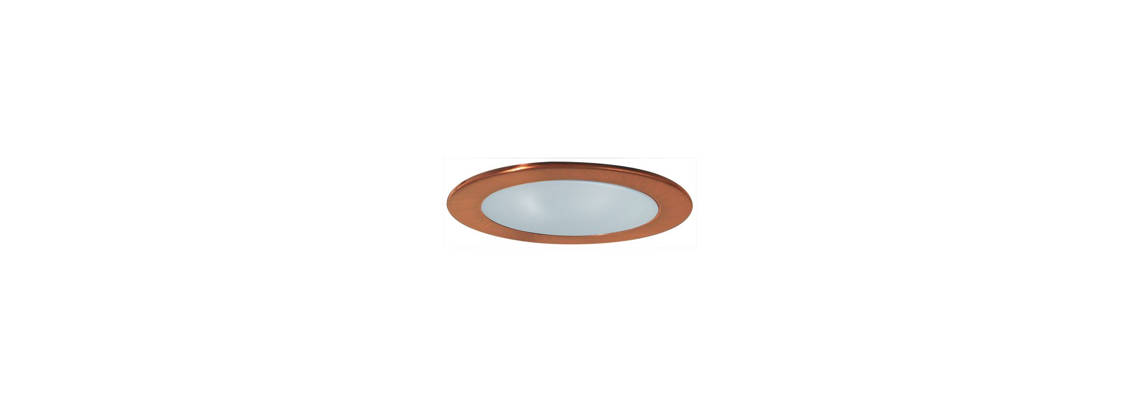"Elco EL9112 4"" CFL Shower Trim with Frosted Lens and Reflector Copper"