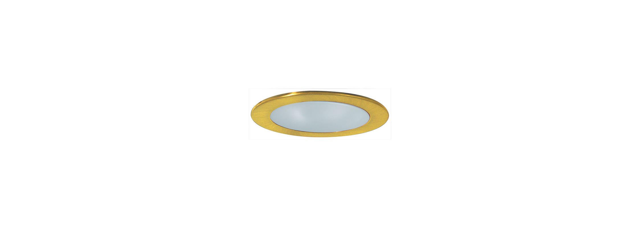 "Elco EL9112 4"" CFL Shower Trim with Frosted Lens and Reflector Gold"