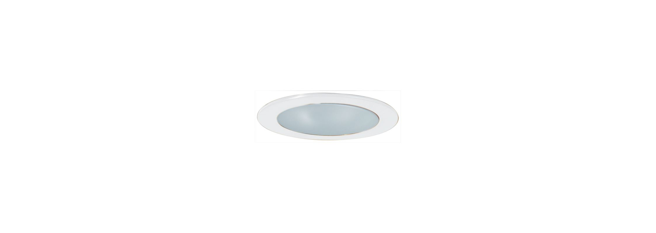 "Elco EL9112SH 4"" White Lexan Shower Trim with Frosted Lens and"
