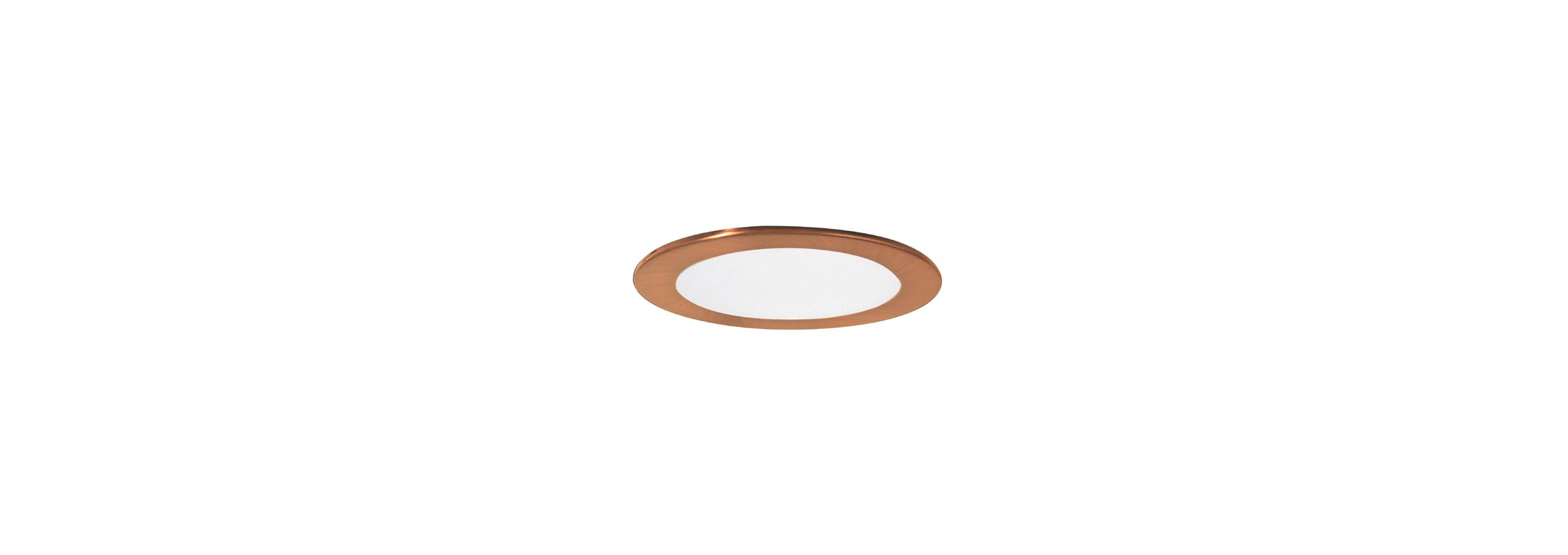 "Elco EL9114 4"" CFL Shower Trim with Albalite Lens and Reflector Copper"