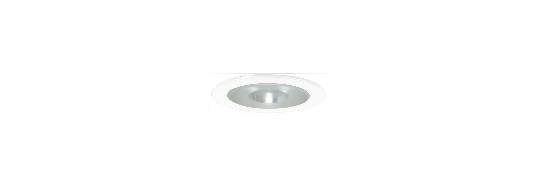 "Elco EL9115SH 4"" White Lexan Shower Trim with Albalite Lens and"