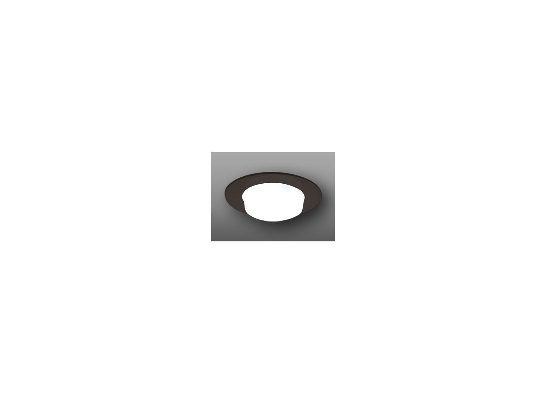 "Elco EL9116 4"" Shower Trim with Drop Opal Lens and Reflector Black"