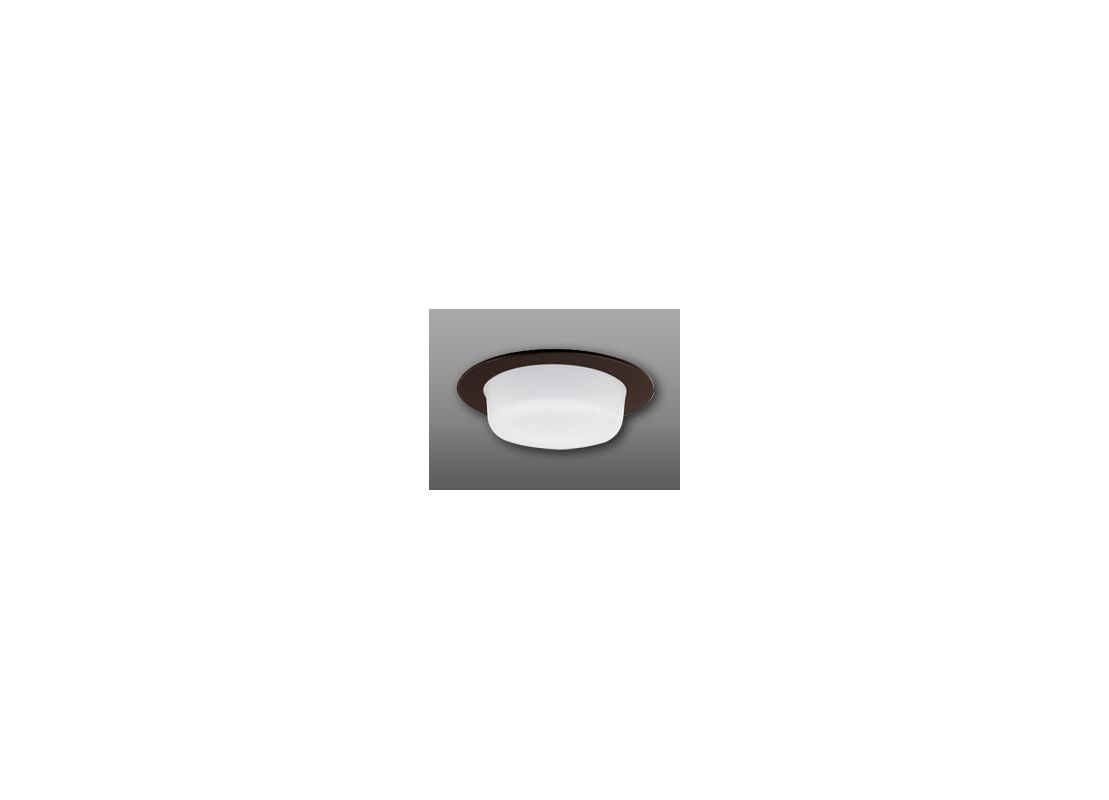 "Elco EL9116 4"" Shower Trim with Drop Opal Lens and Reflector Bronze"
